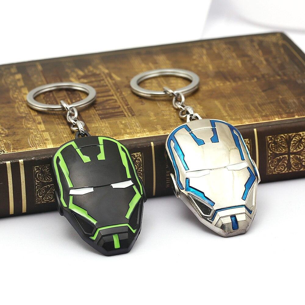 Marvel Avengers Iron Man Classic Couleur Masque Keychain NOUVEAU Porte-clés Movie Game