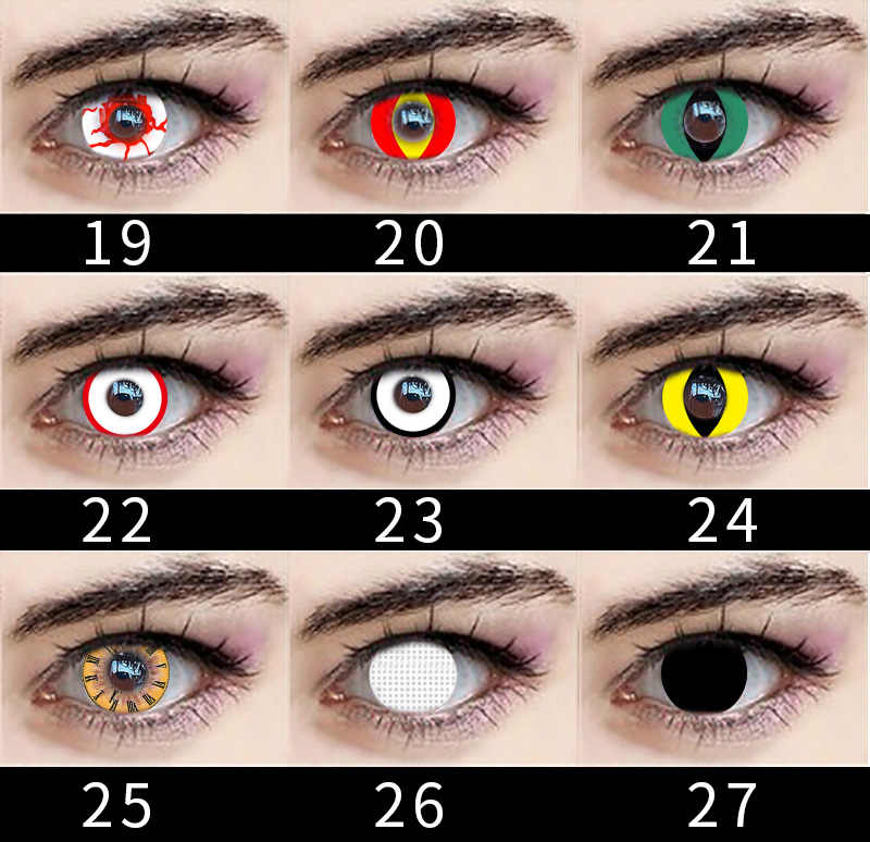 2Pcs/1Pair Fashion Party Big Eye Makeup Set For Cosplay Cartoon Character Beauty Color Comfortable Eyewear