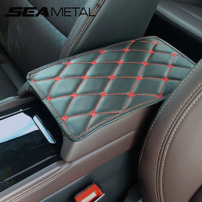 Cojín decorativo para Reposabrazos de Interior de coche, Protector de cuero para Reposabrazos de coche