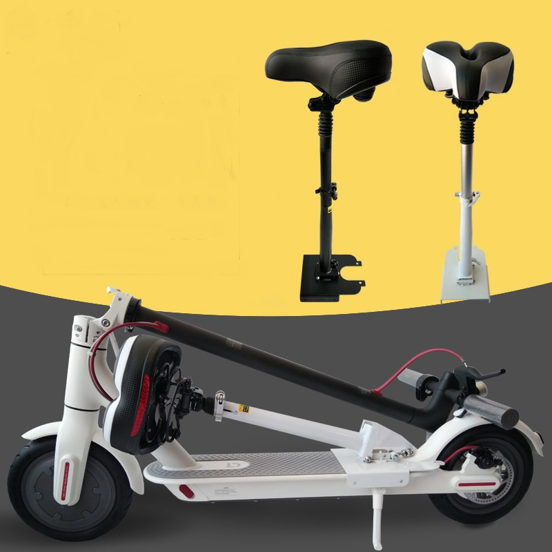 Electric Skateboard Saddle for Xiaomi Mijia M365 Scooter Foldable Shock Comfortable Folding Chair Absorbing Seat Easy Install Scooter Parts & Accessories     - title=