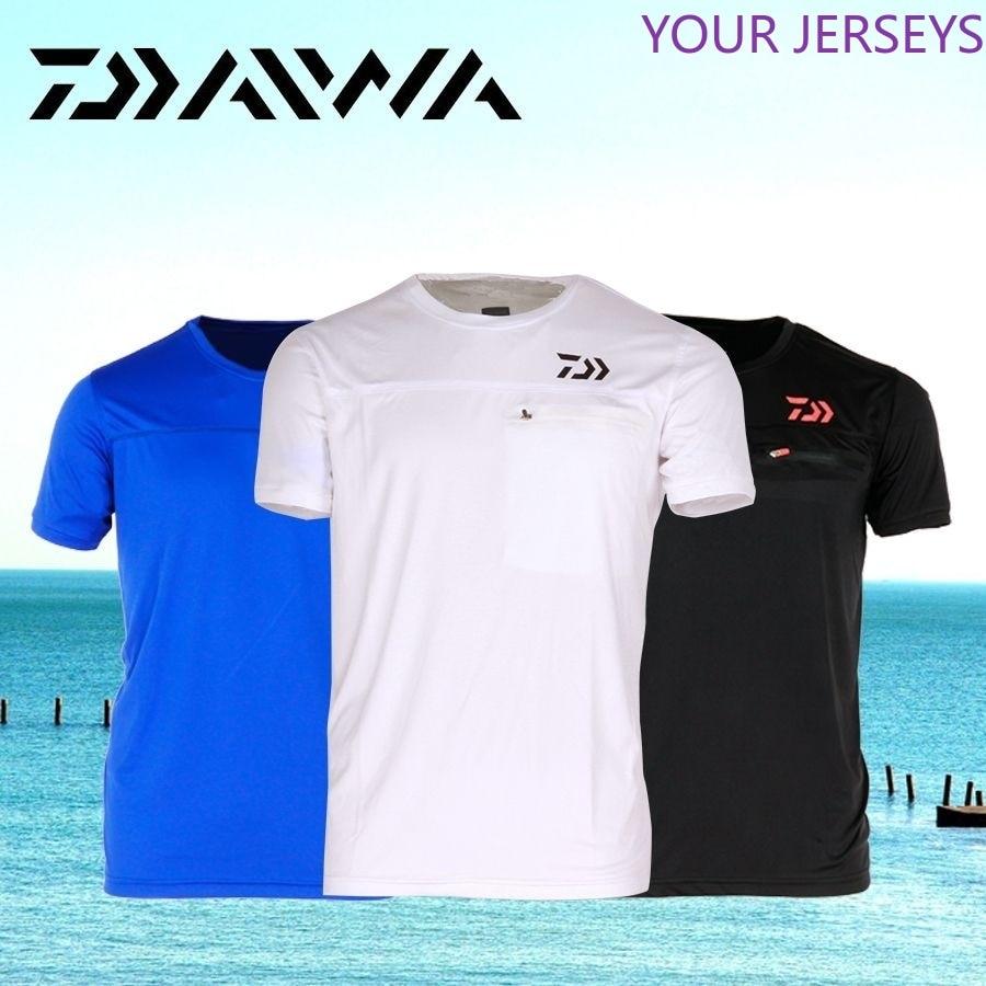 DAIWA Fishing Clothing Short Sleeve  Clothes   Quick-Drying Breathable Anti-UV Sun Protection  T Shirt