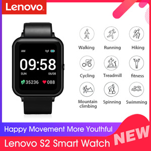 Global Version Lenovo S2 Smart Watch 1.4inch 240x240p Fitness Tracker Band Calorie Pedometer Sleep Monitor Heart Rate Monitor
