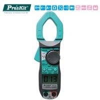 Proskit Mini AC DC Hand Held Digital Clamp Meter LCD display current clamp Temperature test pliers ammeter ticks multimeter