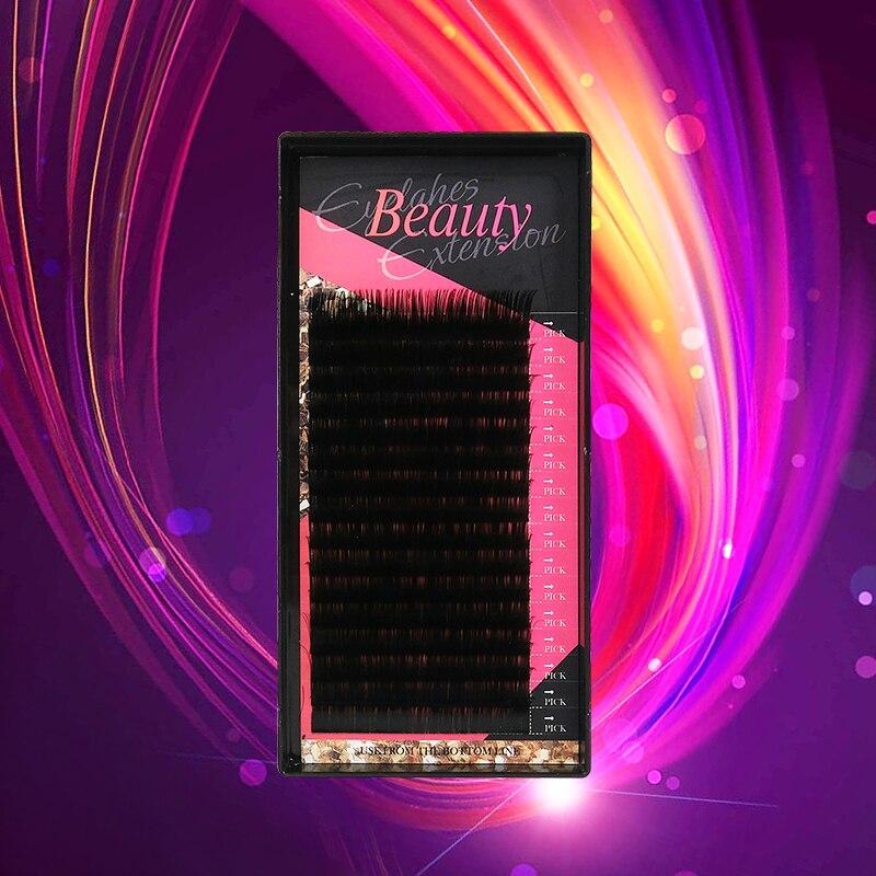 Klacuva Individual Eyelashes Extensions 16rows Professional Mink Individual Lash Extensions Makeup Hybrid/mega Volume Lashes