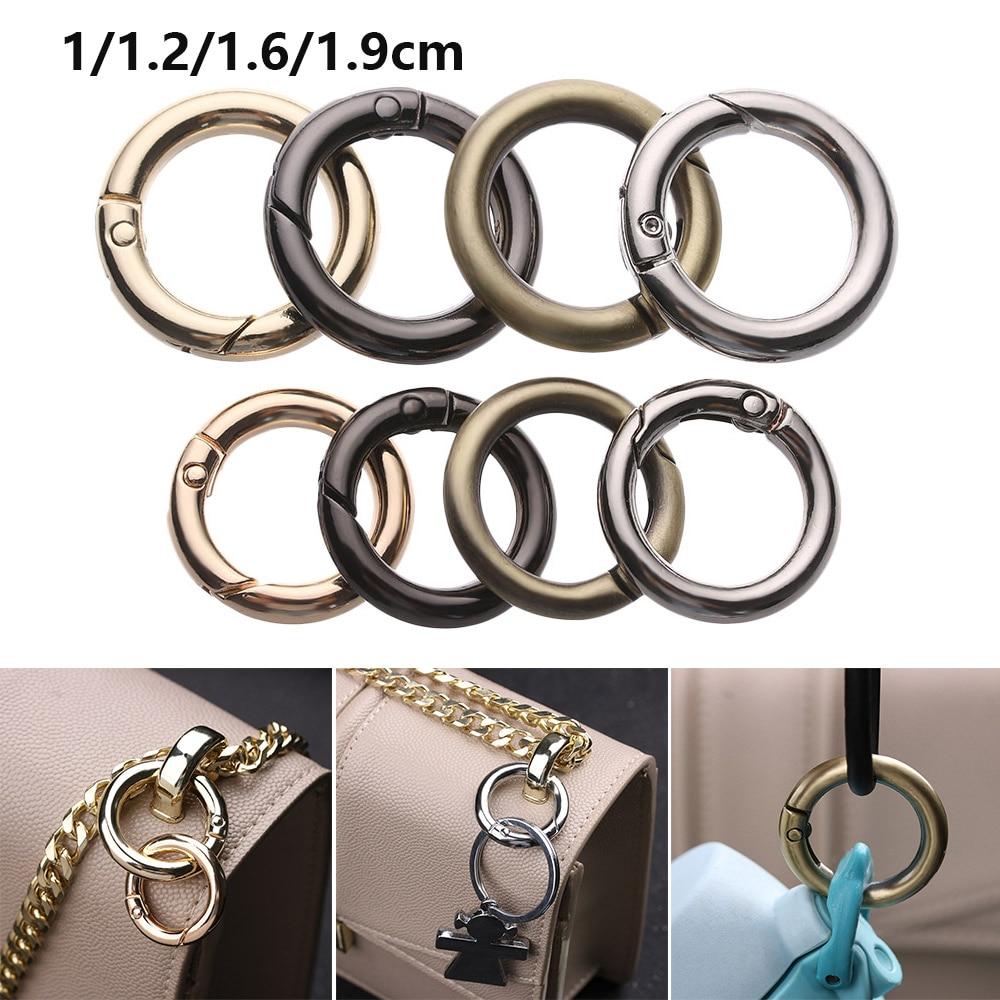 Snap Clasp Clip Carabiner Purses Handbags Bag Belt Buckle Spring O-Ring Buckles