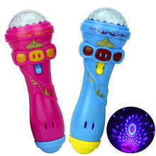 Lighting Toys Children Emulated Music Toys Lighting Wireless Microphone Model Music Karaoke Glow In the Dark Toy Gifts Y* free shipping oktoberfest events 11 5ft led glow in the dark inflatable lighting can model for toys