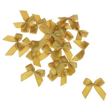 20 шт 2,5 см DIY ремесло украшения ширина 3 см Высота милый ручной работы маленький размер полиэстер атласная лента Бант Цветок