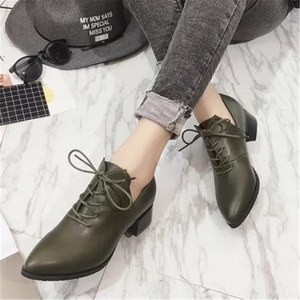 Image 2 - Ladies British vintage chunky  street shoes 2020 autumn European new style students with simple shoes elegant and  womens shoes