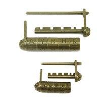 Candado con llave para armario, candado con combinación de 5 letras, cerradura con contraseña, estilo antiguo chino, para armario, puerta, armario ZJM9149