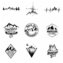Car Stickers Hot Sale Mountains And Compass Car Sticker Vinyl Art Car Stickers Waterproof for car Accessories decoration