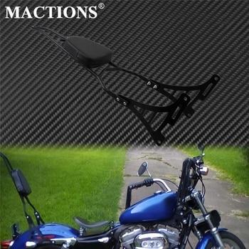 Black Motorcycle Detachable Luggage Rack Sissy Bar Rear Backrest W/ Cushion Pad Fits For Harley Sportster XL883 XL1200 2004-2019