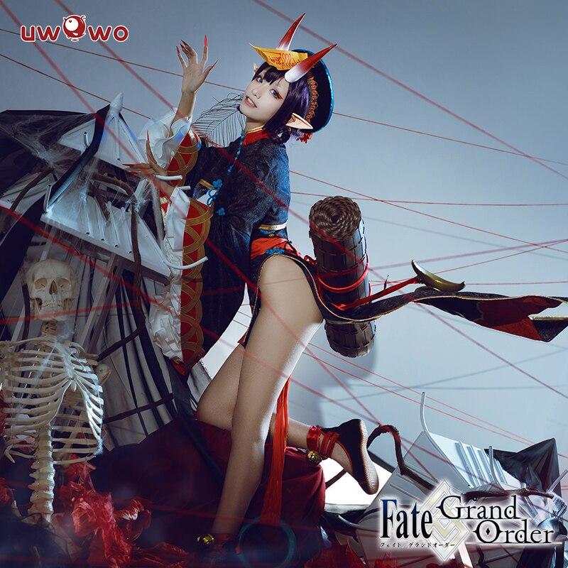 Uwowo  2019 New Fate Grand Order Shuten Douji Anime Halloween Costume Zombie Women Sexy Ghost Clothing Lingerie