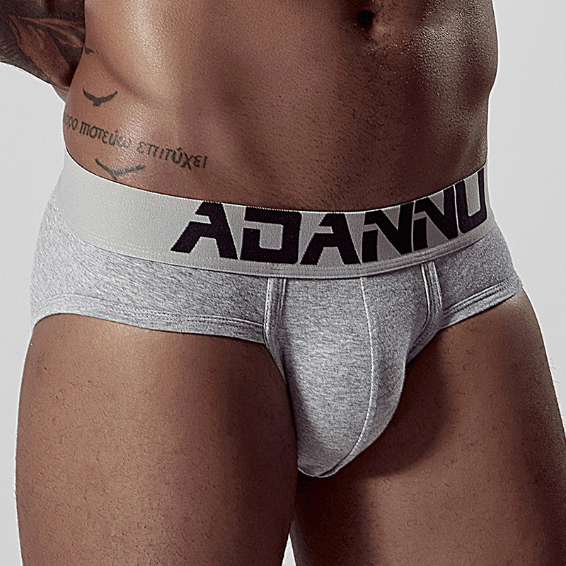 Pure Cotton Sexy Men Briefs Underwear Bikini Mens Cotton Soft Breathable Slip Underpants Cueca Male Panties Lingerie AD127