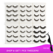 4 Pairs/pack 3D Mink Hair False Eyelashes Wispy Lashes Natural/Thick Long Eye Makeup Beauty Extension Tools faux cils
