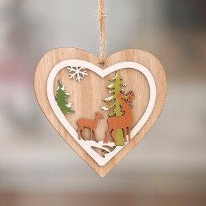 Image 5 - 1 шт. новые украшения для рождественской елки, подвесные Рождественские елки, вечерние украшения для дома, 3D Подвески, высокое качество, деревянные подвески, цветные украшения
