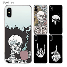 Uyellow Pirates Skull TPU Trend Cover For Iphone 5 6S 7 8 9 10 Plus Silicone Soft Phone Case For Apple X XR XS MAX Coque Shell стоимость