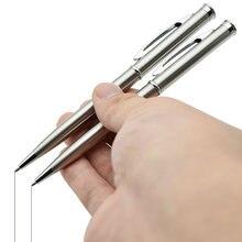 Металлическая шариковая ручка из нержавеющей стали 07 мм черная