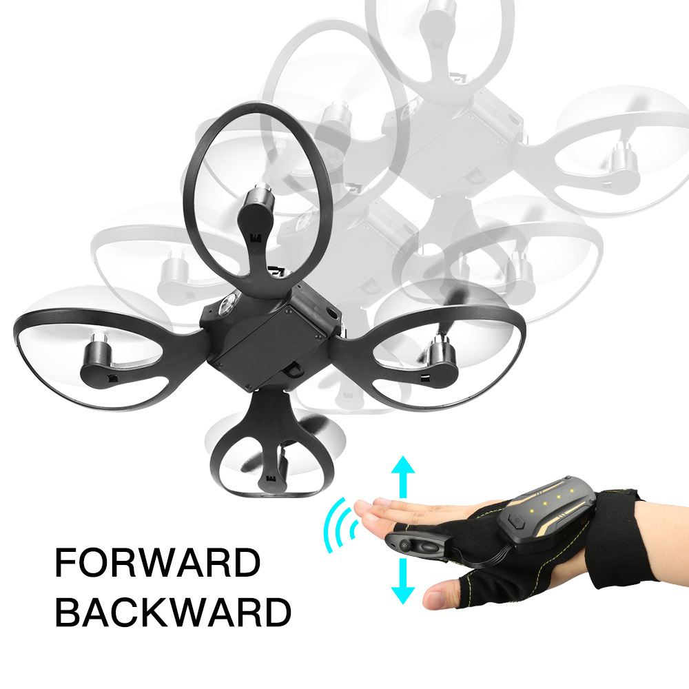 Folding Unmanned Aerial Vehicle Gesture Control Aerial Photography Quadcopter Somatosensory Gravity Sensing Remote Control Aircr