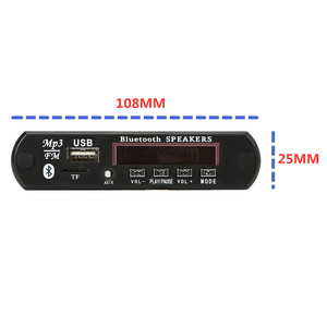 Image 2 - 2*3W MP3 Player Record Car USB Bluetooth5.0 Hands free Integrated MP3 Decoder Board Module with Remote Control USB FM Aux Radio