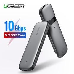Ugreen M2 SSD чехол NVME корпус M.2 для usb type C 3,1 SSD адаптер для NVME PCIE NGFF SATA M/B Ключ SSD диск коробка M.2 SSD чехол