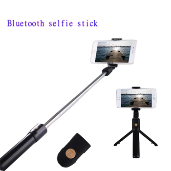 10 pcs Mini 3 in 1 Wireless Bluetooth Selfie Stick with Remote Control For iPh 7 8 6s plus for Huawei Universal Portable Monopod