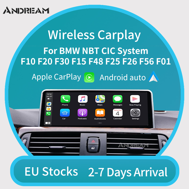 Wireless CarPlay Android Auto for BMW F20 F21 F22 F23 F30 F31 F32 F33 F34 F36 F01F56 NBT CIC system Mirrorlink Compatible IOS(China)