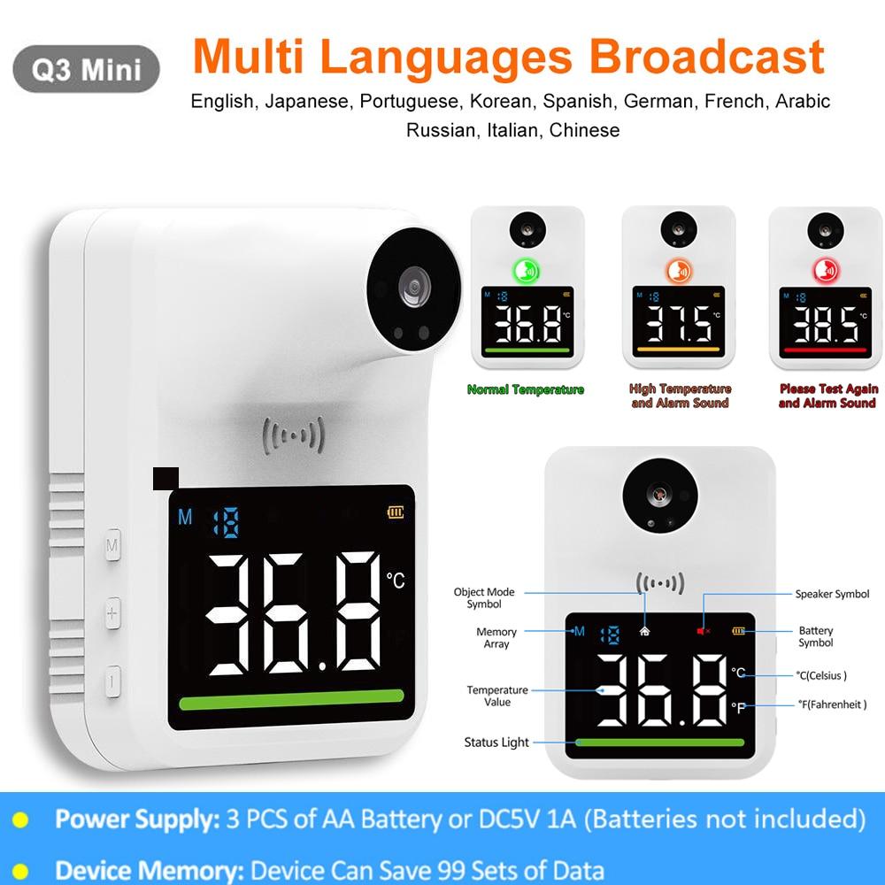 Цифровой Настенный ИК-термометр Handfree, бесконтактный инструмент для быстрого автоматического измерения температуры с сигнализацией лихора...