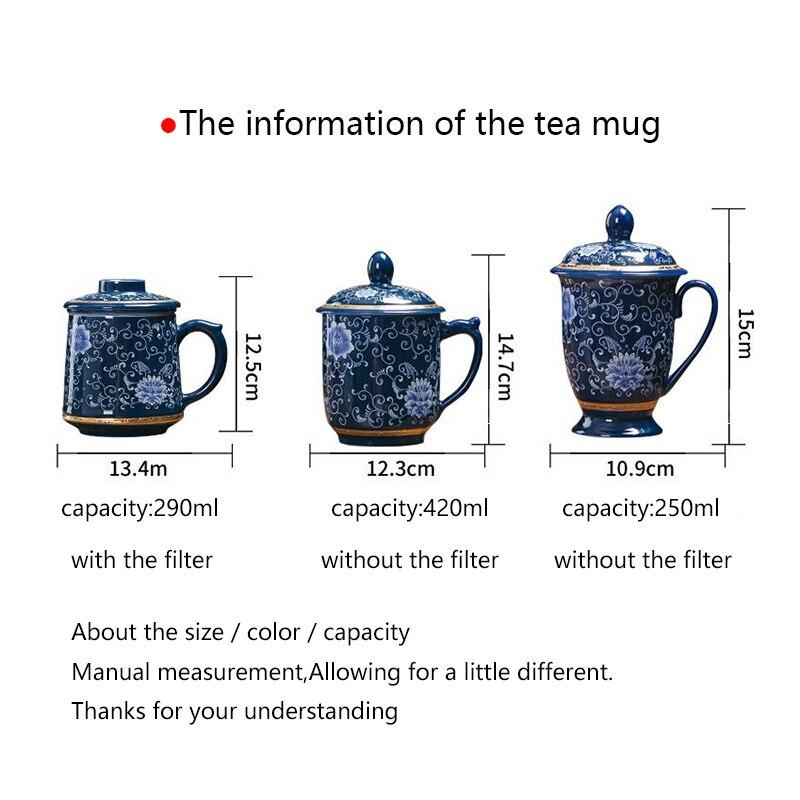 Jingdezhen 999 argent thé tasse émail en céramique café tasses Vintage tasse bureau maître eau tasses artisanat Collection comme cadeau de noël - 2