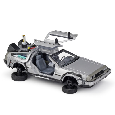 1:24 Car BACK TO THE FUTURE TIME MACHINE HOVER MODE DeLorean DMC Collector Edition Metal Diecast Cars Kids Toys Gift