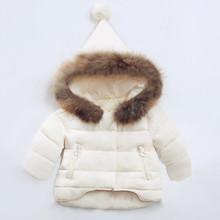 Dzieci dół kurtki dla dziewczynek dziewczynek kurtka dla dzieci płaszcz jesień zima ciepła odzież dziecięca odzież wierzchnia odzież dla niemowląt tanie tanio COTTON about 600g CN (pochodzenie) Na co dzień Stałe REGULAR Outerwear Coats Z kapturem Jackets zipper Unisex Pasuje prawda na wymiar weź swój normalny rozmiar
