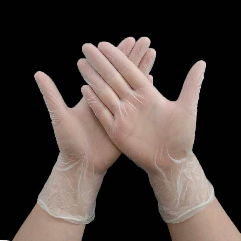 100 PCS Transparent Disposable PVC Gloves Anti Oil Fouling Dishwashing/Kitchen/Medical /Work Gloves Touch Screen Home Cleaning