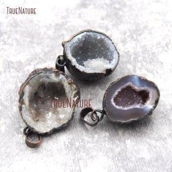 10Pcs Free Form Bronze Bail Pendant Agates Geode Druzy Drussy Pendant Approx 21X27mm PM27023