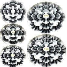 7/8 пар 25 мм 3d норковые ресницы оптом из искусственной норки с индивидуальной коробкой Wispy натуральные норковые ресницы в упаковке короткие О...