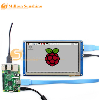 module waveshare raspberry pi 7inch hdmi lcd rev 2 1 1024 600 ips touch screen with case for rpi 2 b 3 b banana pi beaglebone b 7 inch Raspberry pi 2/3 LCD display touch screen 7inch HDMI LCD (B), supports various systems