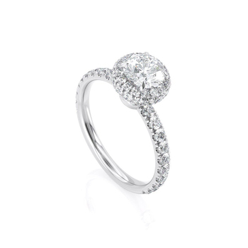 14k White Gold Center 1ct 6.5mm EF Color Moissanite Halo Engagement Ring for Women Wedding Anniversary Gift 3