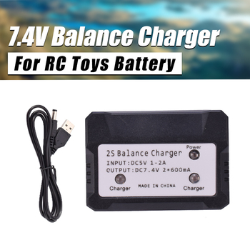 2IN1 7.4V 2S 600 mA Lipo Battery Balance Charger For Syma X101 X8C MJX X600 RC Toys Battery Plug Input DC 5V 1-2A
