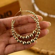 Zovoli винтажные золотые шарики крупные круглые серьги кольца
