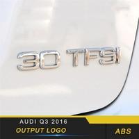 Output Volume Badge Emblem Cover Trim Frame Sticker Exterior Accessories for Audi A4 A5 A7 A6 A8 Q3 Q7 Q5