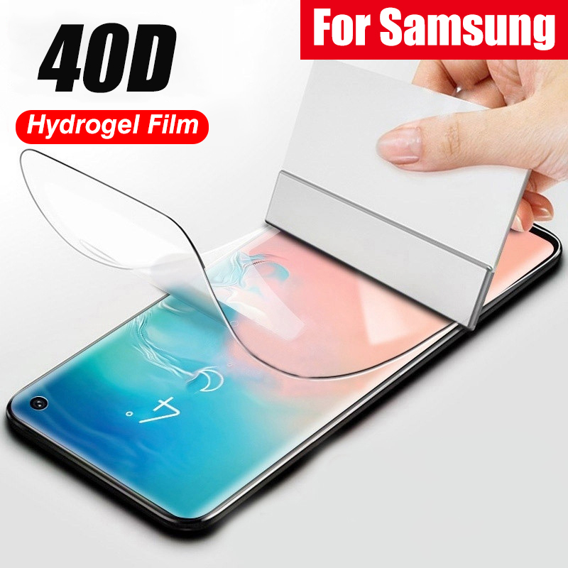 Filme de hidrogel macio completo para samsung galaxy s20 s10 s9 s8 mais nota 10 9 mais protetor de tela para samsung s20 ultra s10 5g filme