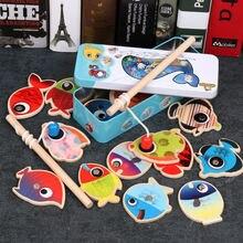 Классические деревянные магнитные рыболовные игрушки для детей