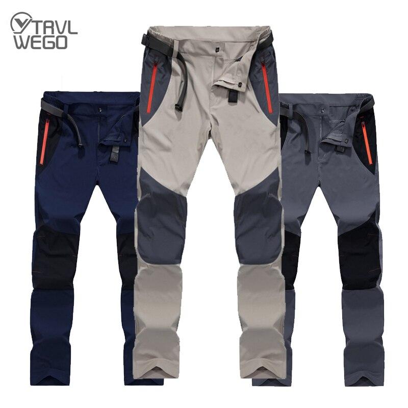 TRVLWEGO мужские походные брюки для спорта на открытом воздухе летние воздухопроницаемые брюки быстросохнущие для кемпинга и рыбалки водонепр...