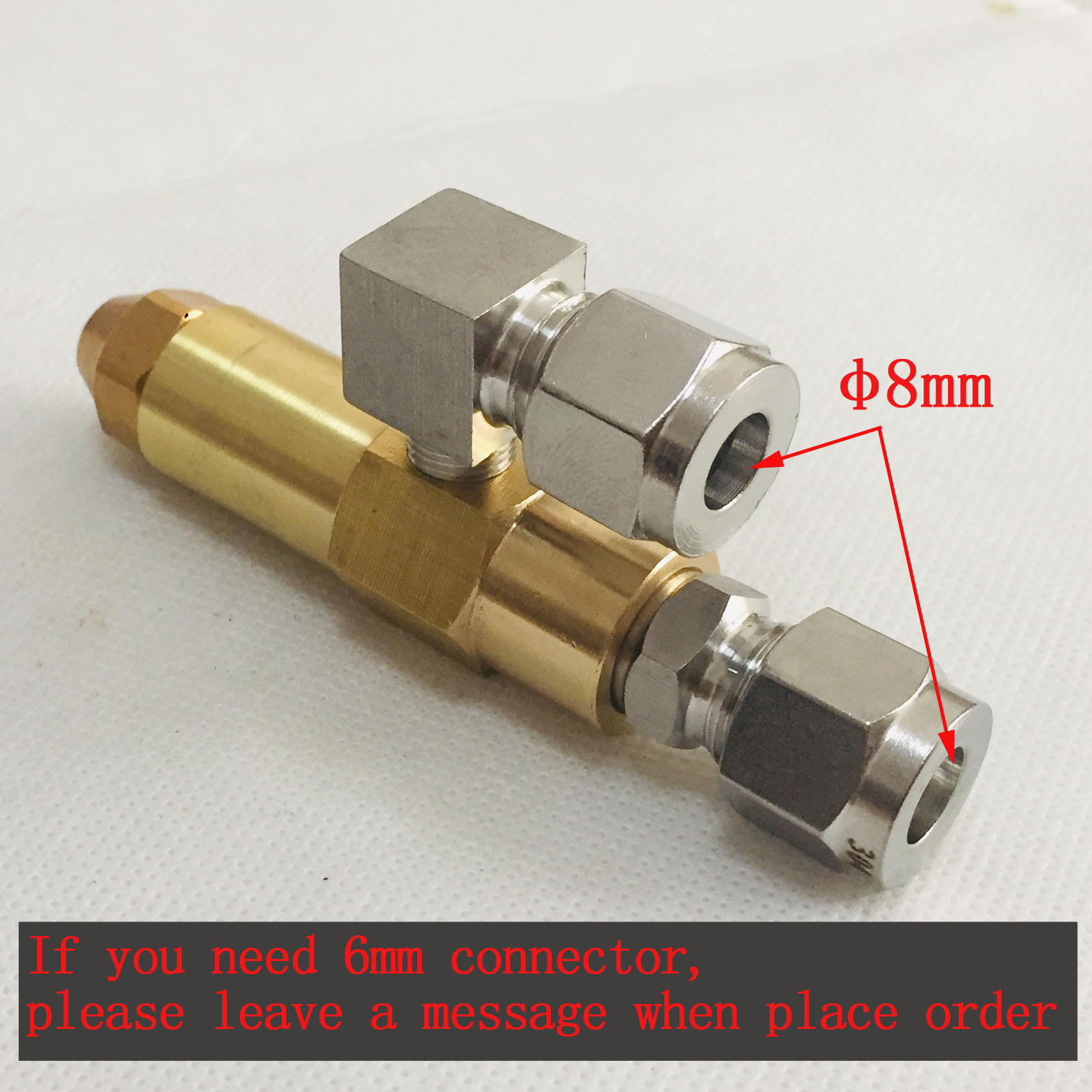 Image 5 - 68mm 0.5/0.8/1.0/1.2/1.5/2.0/2.5/3.0mm Waste oil burner  nozzle,air atomizing nozzle,fuel oil nozzle,full cone oil spray  nozzleSprayers