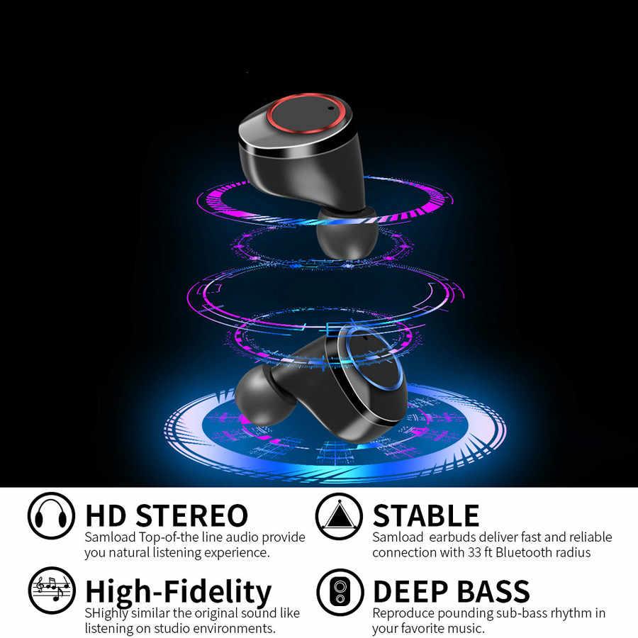 Sterowanie dotykowe X11 TWS bezprzewodowe słuchawki Bluetooth 5.0 słuchawki wyświetlacz mocy z okno ładowania Sport Stereo bezprzewodowe słuchawki douszne