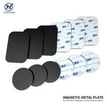 Магнитный Универсальный Автомобильный держатель для телефона, металлическая пластина 0,6 мм, магнитные железные листы, металлический диск для магнита, крепление на вентиляционное отверстие, автомобильный держатель, подставка