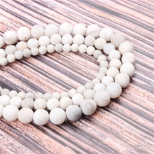 Hot?Sale?Natural?Stone?Frosted White Agate15.5?Pick?Size?4/6/8/10mm?fit?Diy?Charms?Beads?Jewelry?Making?Accessories