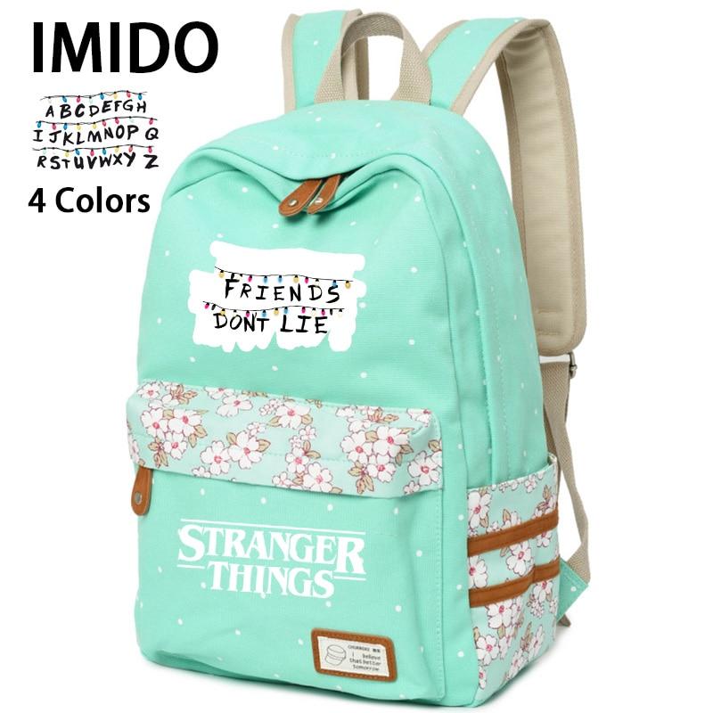 IMIDO рюкзаки с изображением букв, для девочек, странные вещи, яркие цвета, школьная сумка, школьные рюкзаки, повседневные сумки