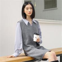 Женское Повседневное платье осень зима 2020 винтажное жилет