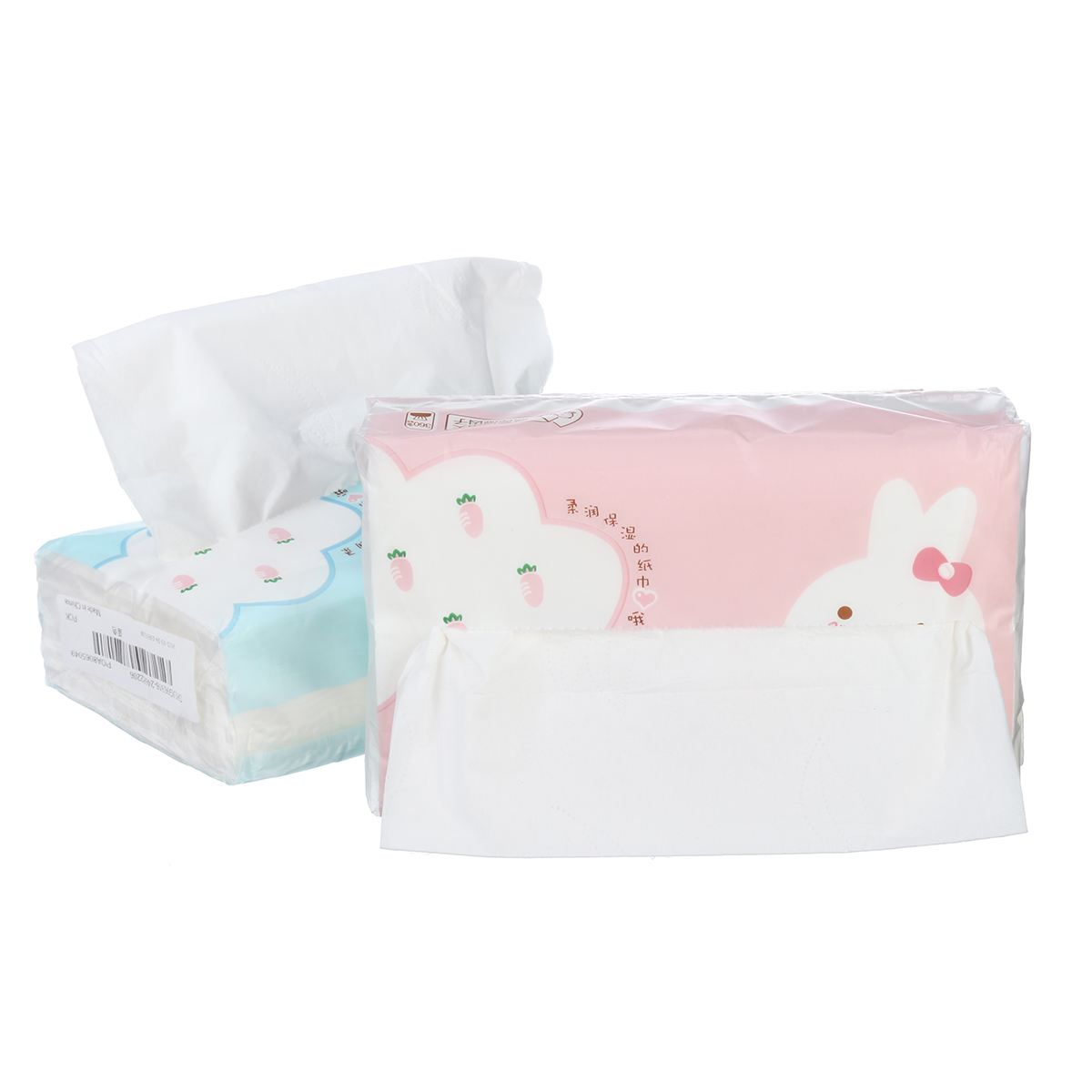 HOT 120 Sheets Drawable Facial Tissue Native Wood Pulp 3 layers Thickened MOISTURIZING 140mmx180mm Tissue