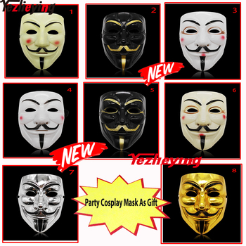 8 Styles Full Face Party Masks Cosplay V Halloween Mask masker for Vendetta F Adult Costume Performance Accessory