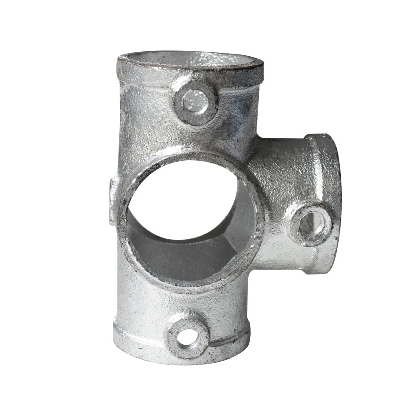 And Edge Protection Pipe Fitting Architecture Protection Joint Tietong Pipe Fitting Steel Tube Fastener Cast-iron Galvanized And